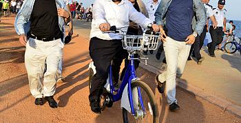 Akıllı bisiklet artık Mersin sahilinde